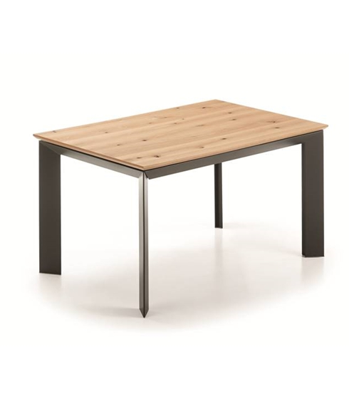 MESA JENNA DE 140X90 ANTRACITA CON ROBLE SALVAJE NATURAL