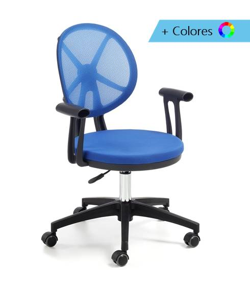 SILLA OFFICE DIXIE ESTRUCTURA NEGRA PIE NEGRO